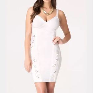 Bebe Bandage Dress White NWT
